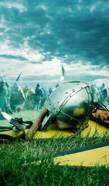 Stephen Mulcahey A Norman helmet lying on the battlefield Groups/Crowds