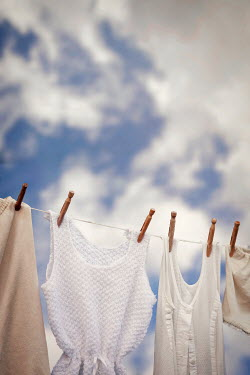 Emma Goulder CLOTHES PEGGED ON WASHING LINE Miscellaneous Objects