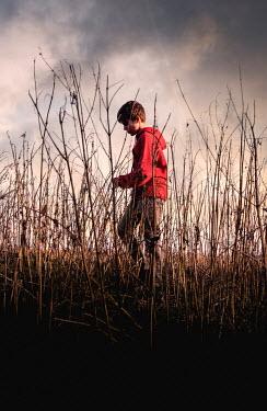 Stephen Mulcahey teenage boy walking through long grass Children