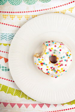 Kelly Sillaste COLOURFUL DONUT WITH BITE TAKEN Miscellaneous Objects