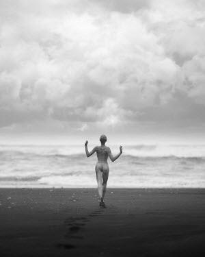 Dan Tidswell NAKED WOMAN RUNNING INTO SEA Women