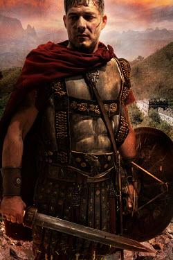 Nik Keevil ANCIENT ROMAN WEARING ARMOUR BY MOUNTAINS Men