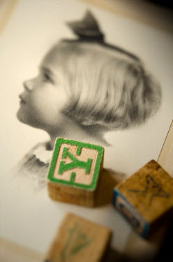 Debra Lill PHOTO OF LITTLE GIRL AND BUILDING BLOCKS Miscellaneous Objects