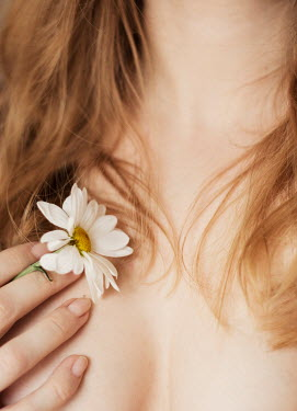 Nina Masic NUDE WOMAN HOLDING DAISY FLOWER Women