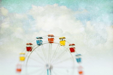 Pamela Schmieder COLOURFUL FERRIS WHEEL AND BLUE SKY Miscellaneous Objects