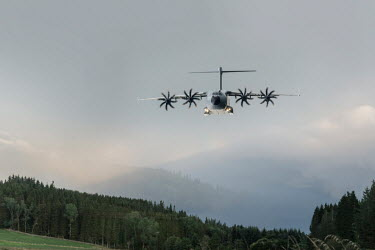 CollaborationJS Airbus A400M aeroplane landing in field Miscellaneous Transport