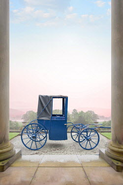 Lee Avison vintage horse drawn carriage outside a country mansion Miscellaneous Transport