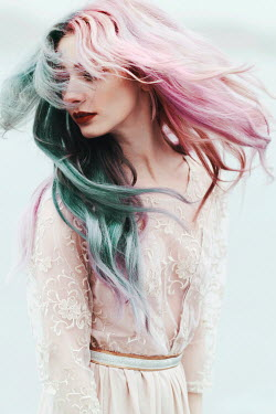 Jovana Rikalo YOUNG WOMAN WITH BLUE AND PINK HAIR Women