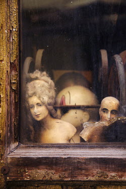 Irene Suchocki MANNEQUINS IN OLD JUNK SHOP Miscellaneous Buildings