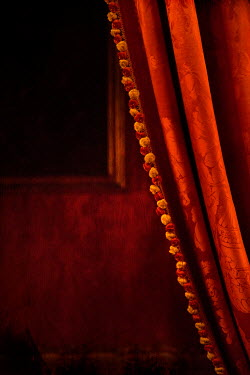 Irene Suchocki RED VELVET CURTAINS BY SHADOWY WINDOW Interiors/Rooms