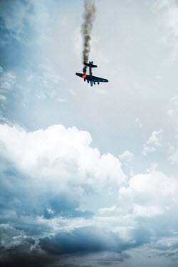 CollaborationJS 1940s aeroplane falling from sky on fire Miscellaneous Transport