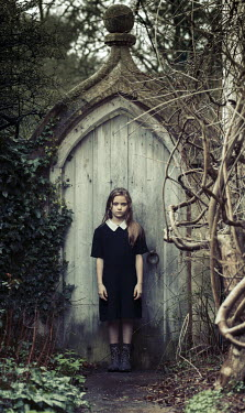 Robin Macmillan YOUNG GIRL BY GARDEN DOOR Children