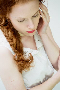 Yolande de Kort YOUNG WOMAN WITH RED HAIR IN PLAIT Women