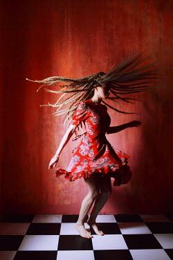 Ilona Shevchishina GIRL DANCING ON CHEQUERED FLOOR Women