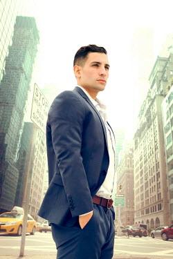 ILINA SIMEONOVA MAN STANDING IN NEW YORK STREET Men