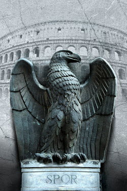 Nik Keevil ANCIENT ROMAN STONE EAGLE STATUE Statuary/Gravestones