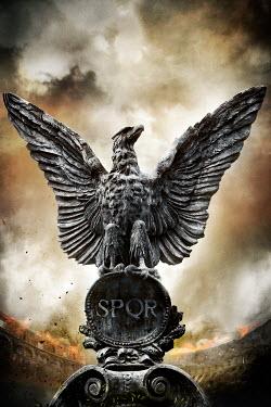 Nik Keevil ANCIENT EAGLE STATUE IN ROMAN ARENA Statuary/Gravestones