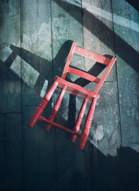 Mark Owen RED CHAIR KNOCKED OVER IN SHADOWS Miscellaneous Objects