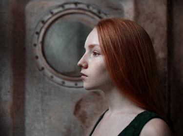 Igor Burba GIRL WITH RED HAIR BY PORTHOLE Children