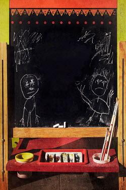 Kelly Sillaste CHILDS DRAWINGS ON SCHOOL BLACKBOARD Miscellaneous Objects