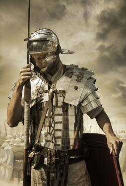 Stephen Mulcahey roman sentry man wearing armour Men