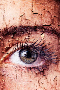 Valentino Sani female eye combined with decaying wall Body Detail