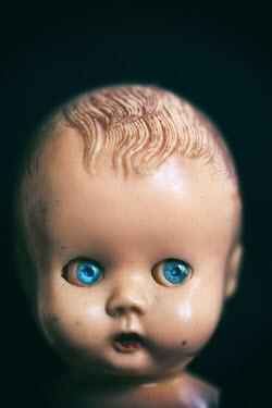 Jill Ferry SHABBY DOLLS HEAD WITH BLUE EYES Miscellaneous Objects