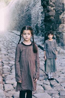 Tanya Gramatikova TWO LITTLE GIRLS ON COBBLED STREET Children