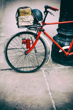 Lee Avison 1940s air raid warden's bike leaning on lamp post Miscellaneous Transport