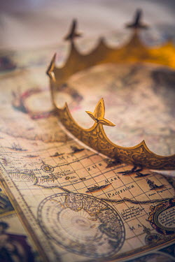 Magdalena Russocka GOLDEN CROWN ON HISTORICAL MAP Miscellaneous Objects
