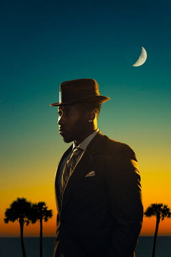 Logan Zillmer BLACK MAN WEARING SUIT AT SUNSET Men
