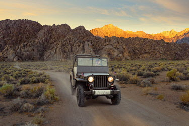 Logan Zillmer AMERICAN MAN DRIVING JEEP BY MOUNTAINS Men