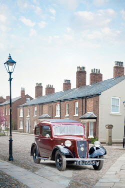 Lee Avison vintage austin seven car on cobbled street Cars