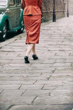 Lee Avison 1940s woman walking on pavement Women