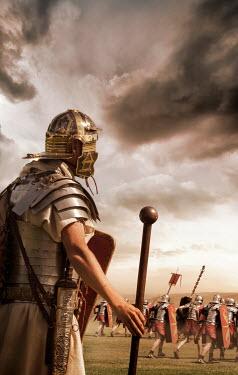 Stephen Mulcahey ancient roman soldiers on battlefield Men