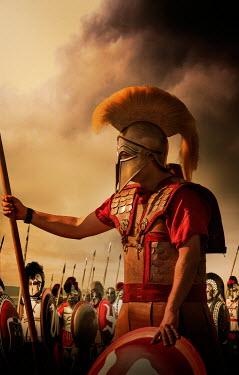 Stephen Mulcahey ancient Spartan warriors on battlefield Men