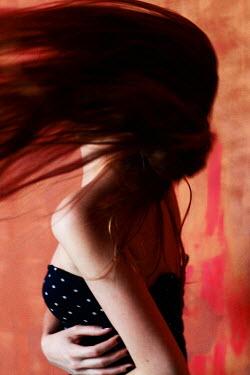 Ilona Shevchishina YOUNG BRUNETTE WOMAN TOSSING HAIR Women