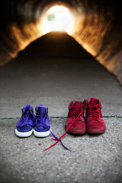 Kelly Sillaste TWO PAIRS OF TRAINERS LEFT BY URBAN ALLEYWAY Miscellaneous Objects