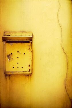 Irene Lamprakou RUSTY YELLOW LOCKED POST BOX Building Detail