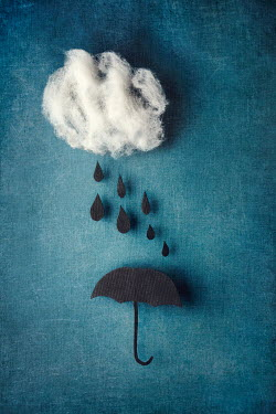 Kelly Sillaste FABRIC MODEL OF CLOUD, RAIN AND UMBRELLA Miscellaneous Objects