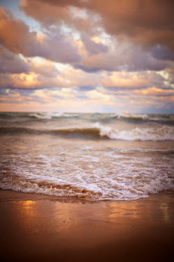 Robert Swiderski CLOUDS OVER SEA AND SANDY BEACH Seascapes/Beaches