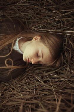 Alina Zhidovinova YOUNG WOMAN SLEEPING ON STRAW Women