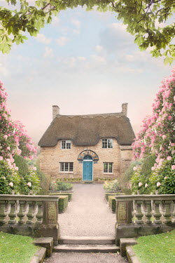 Lee Avison idyllic thatched cottage in a summer garden Houses
