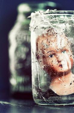 Jill Ferry DOLLS HEAD IN DIRTY GLASS JAR Miscellaneous Objects