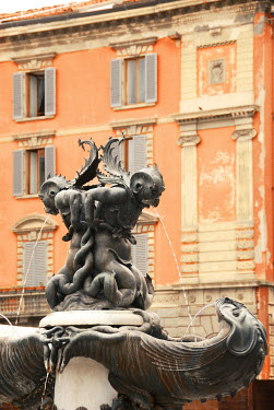 Michael Trevillion SCULPTURAL FOUNTAIN IN FLORENCE Building Detail