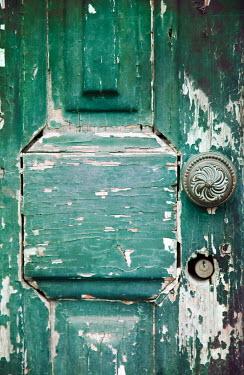 Miguel Sobreira Weathered Door with peeling paint Building Detail