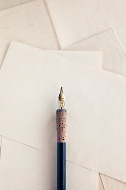 Isabelle Lafrance FOUNTAIN PEN LYING ON BLANK PAPER Miscellaneous Objects