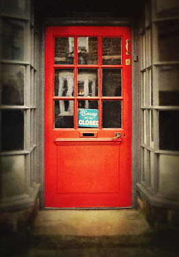 Lyn Randle RED SHOP DOOR WITH CLOSED SIGN Miscellaneous Buildings