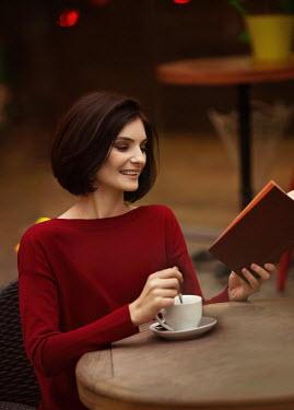Elena Alferova HAPPY WOMAN READING WITH COFFEE Women