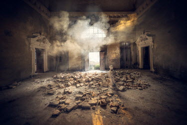 Christophe Dessaigne DERELICT MANSION HOUSE INTERIOR Interiors/Rooms